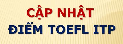 Cập nhật điểm Toefl ITP của sinh viên Khoa SPKT